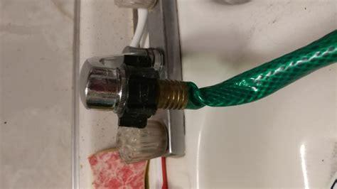 attach  garden hose   kitchen faucet  steps