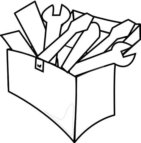 tool kit clipart black and white white tool box clip at clker vector clip