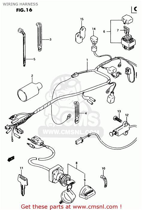 suzuki lt   wiring harness buy original wiring