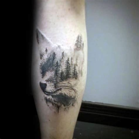 forest tattoo designs  men masculine tree ink ideas