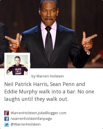 Neil Patrick Harris Meme - joke neil patrick harris sean penn and eddie murphy walk into a bar no one laughs until
