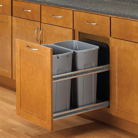 cabinet trash can knape vogt 18 in h x 15 in w x 22 in d plastic in