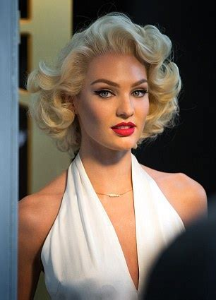 Candice Swanepoel impersonates Marilyn Monroe for Max