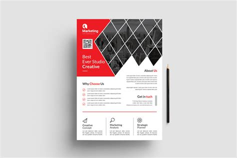 Best A4 PSD Flyer Templates Template Paradise Graphic