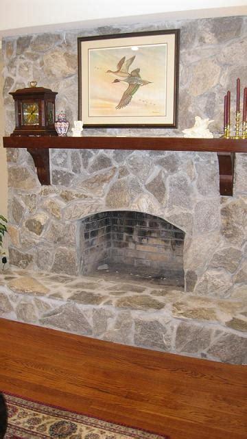 stone fireplace faceliftbefore   masonry