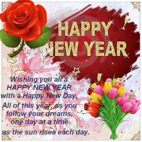 beautiful happy  year wishes pictures