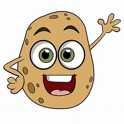 Potato Draw Potatoes Drawing Brown Easy Step