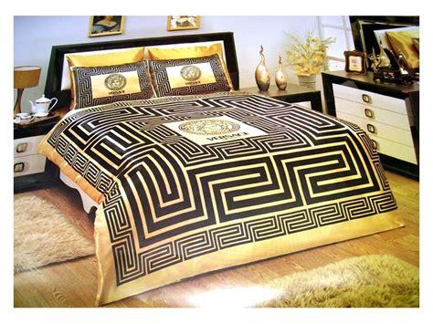 versace bedding set satin medusa duvet set black gold versache pinterest gold bed
