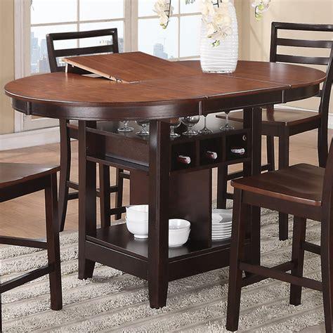 espresso counter height table bobkona counter height table in cherry espresso finish