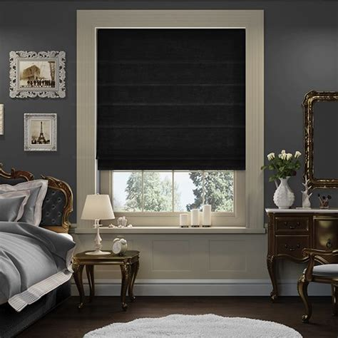black roman blinds ideas  pinterest bedroom