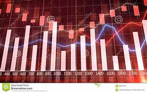Stock Market Graph And Bar Chart Stock Illustration