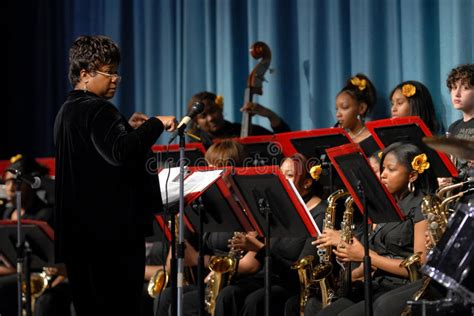 All Girls Jazz Band Editorial Stock Photo. Image Of