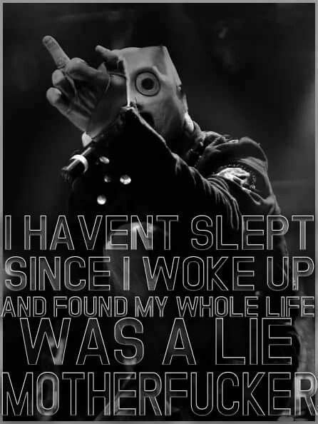 Pin by Alexus on Slipknot | Slipknot lyrics, Slipknot