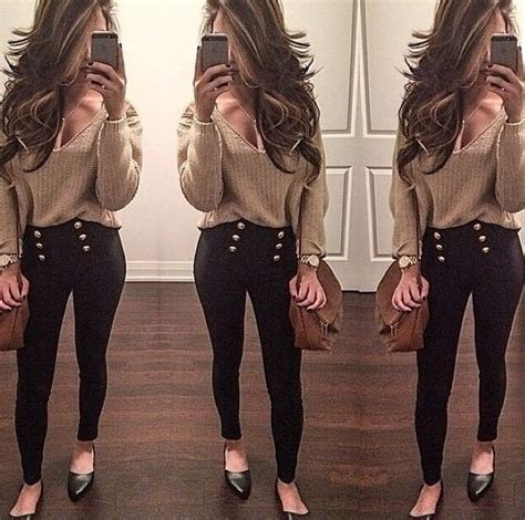 Blouse Top Sweater Long Sleeves Nude Brown Sexy