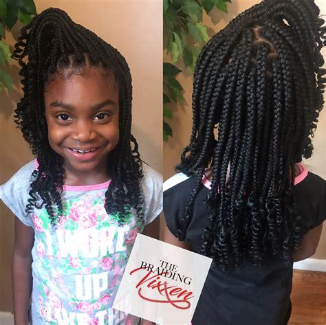 kids box braids wcurly ends atbraidingvixxen box braids