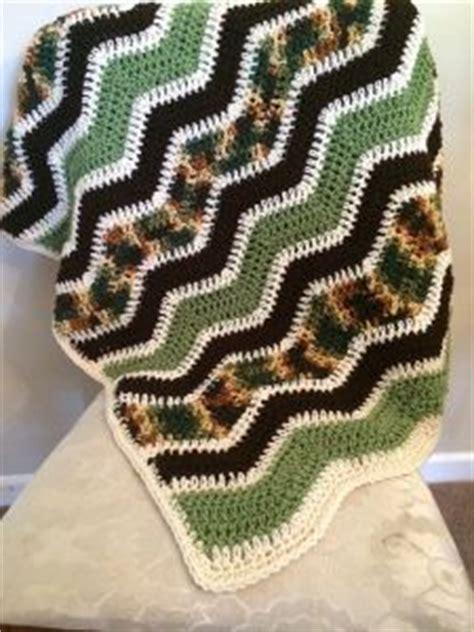 crochet patterns galore camo ripple blanket