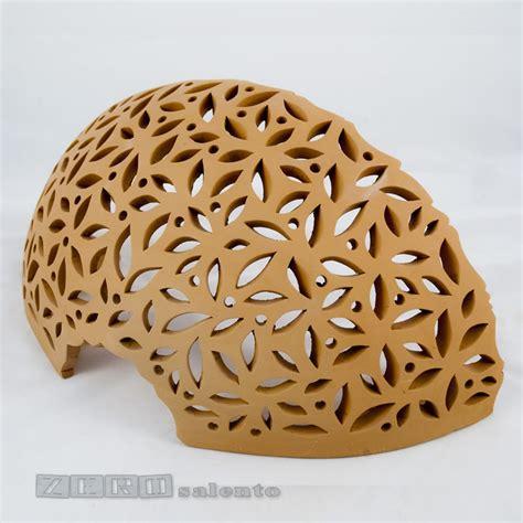 applique offerta applique in terracotta mezzaluna traforata a foglie senza