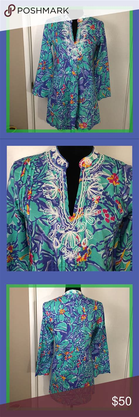 foto de Lilly Pulitzer Mai Tai Sarasota Beaded Tunic S Gorgeous