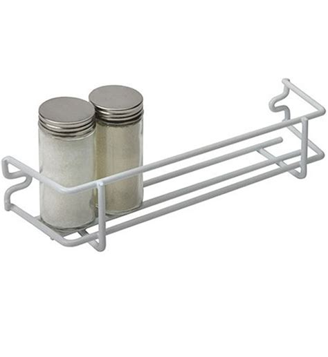 White Wall Spice Rack by White Wire Single Shelf Mounted Spice Rack In Spice Racks