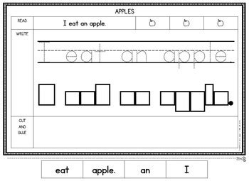 sentence building worksheets free by isla hearts