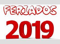 Calendário 2019 com Feriados Calendário