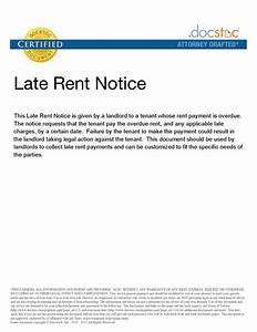 late notice for rent letter