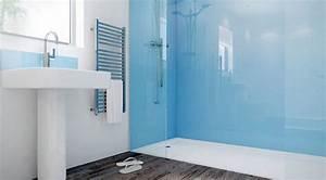Panneau Mural Decoratif Pas Cher : panneau d coratif mural en verre dans la salle de bains ~ Edinachiropracticcenter.com Idées de Décoration