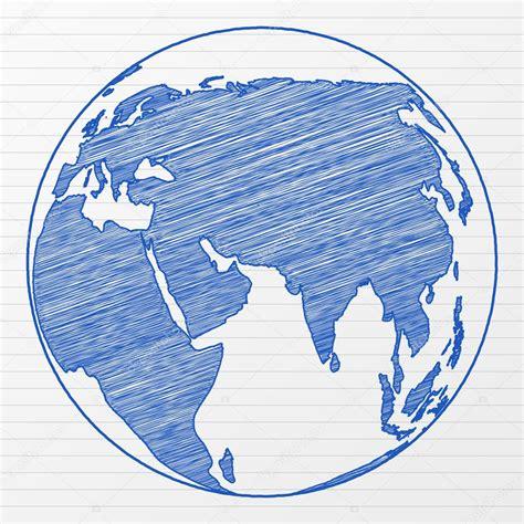 foto de Dessin globe terrestre Image vectorielle julydfg © #3861391