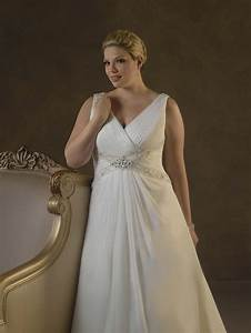 Stylish simple plus size wedding dresses for best bridal for Plus sized wedding dresses