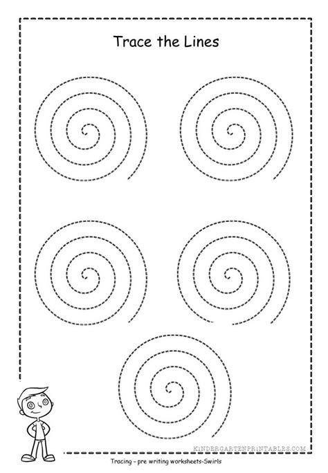 spiral tracing worksheets  printables spiral tracing