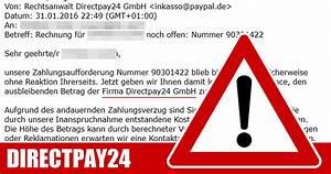 Abrechnung Directpay Gmbh : warnung zahlungsaufforderung von der firma directpay24 gmbh bekommen mimikama ~ Themetempest.com Abrechnung