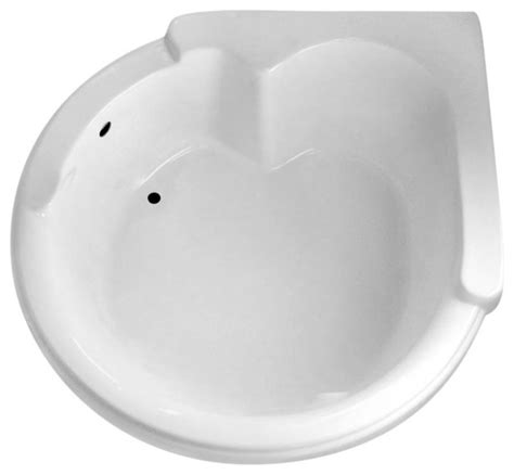 "Carver Tubs Round Corner Air Bathtub, 64""x59"", White"