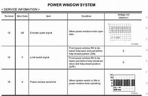 2009 Nissan Pathfinder Power Window Wiring Diagram  2009