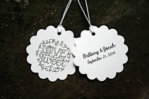 personalized wedding favor tags gift tags 50 love is sweet With wedding favor gift tags