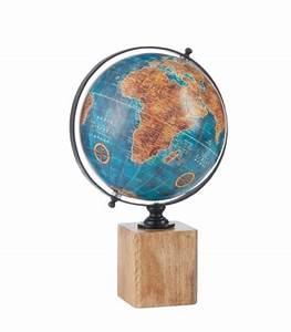 Globe Terrestre Bois : d coration de table rondelle de bois naturel gris ~ Teatrodelosmanantiales.com Idées de Décoration