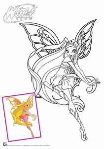 Winx Club Stella Enchantix Free Coloring Pages On Art