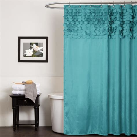 lush decor lillian turquoise shower curtain contemporary