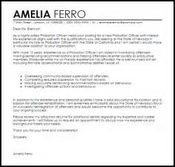 Probation Officer Resume Cover Letter by Probation Officer Cover Letter Sle Livecareer