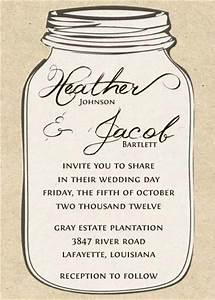 6 best images of free printable mason jar invitation With free printable wedding invitations mason jars