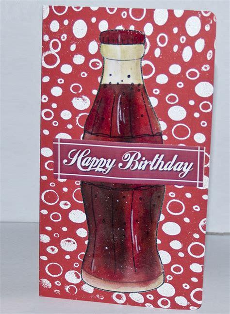 stamperbumpers crafty blog coca cola birthday card