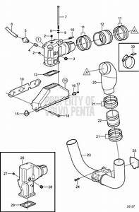 Volvo Penta Exploded View    Schematic Exhaust 4 3gl