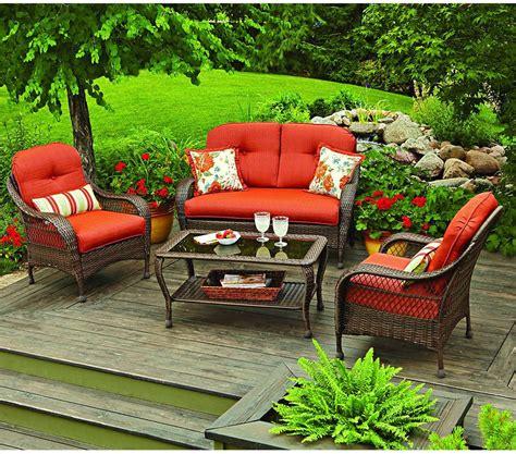 Azalea Ridge Patio Furniture Walmart by Azalea Ridge 4 Patio Conversation Set Walmart