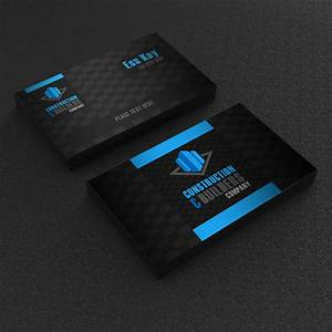 Free construction company business card template design for Free construction business cards templates