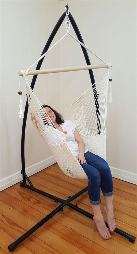 Free Standing Hammock Chair by White Cotton Rope Hammock Chair With Tassels With Stand