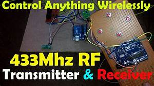 Arduino 433mhz Rf Transmitter And Receiver Module  Rf Wireless Data Transfer  Rf 433mhz Tx And