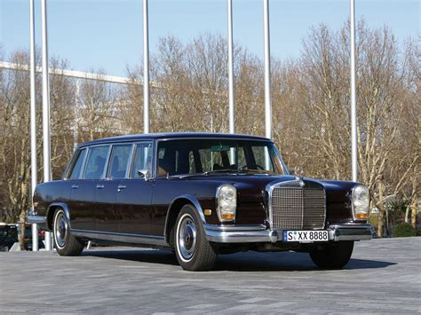This fully armoured state limousine with a raised roof was produced in 1965 as a unique specimen for the company's own car fleet. 1964 Mercedes Benz 600 Pullman Limousine | Car Photos ...