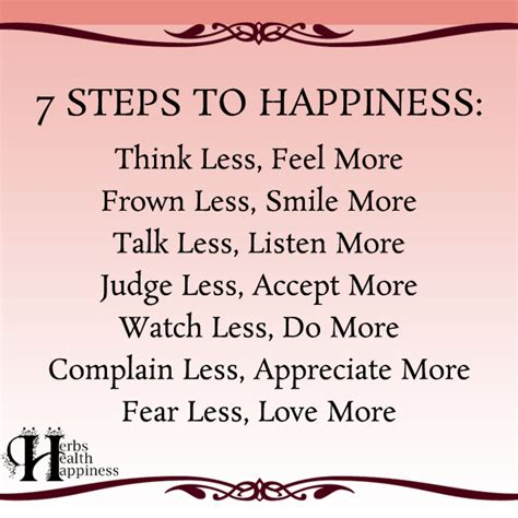 7 Steps To Happiness  ø Eminently Quotable Quotes