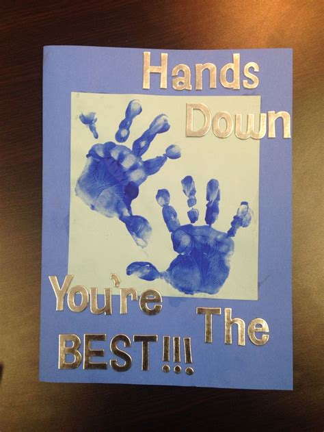 handprint birthday card  dad birthday presents