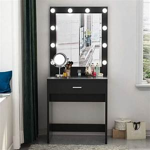 Tribesigns, Vanity, Set, With, Lighted, Mirror, Makeup, Vanity, Dressing, Table, Dresser, Desk, With, Large