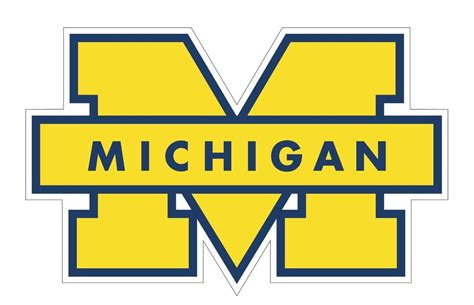 michigan wolverines colors of michigan wolverines decal sticker choose